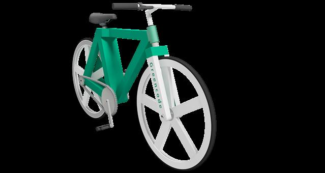 Bike de papel carrega usuário de até 110 kg